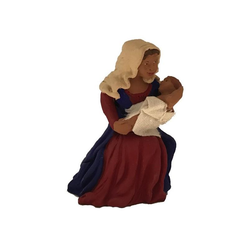 Vierge Marie tenant l'enfant Jésus dans ses bras