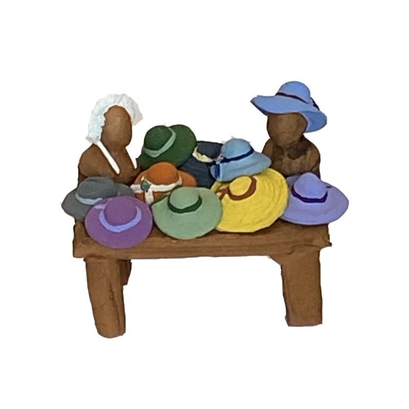 étal de chapeaux