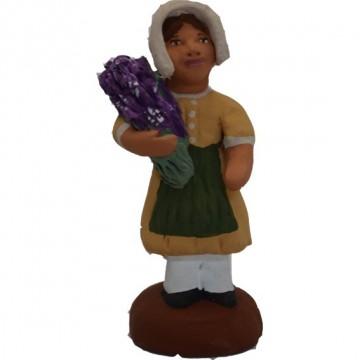 Petite fille au bouquet de lavande