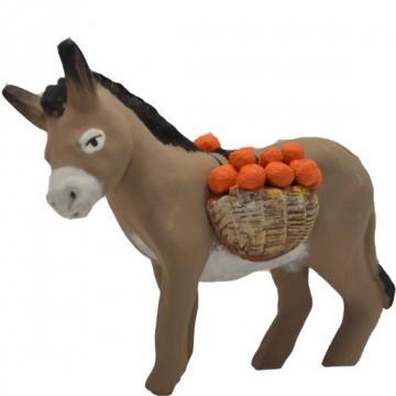 âne chargé d'oranges
