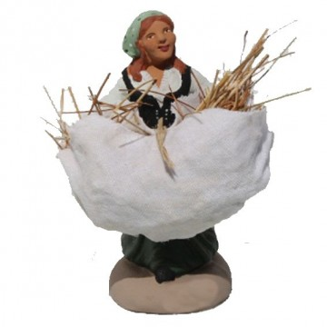 La ramasseuse de foin au gros sac