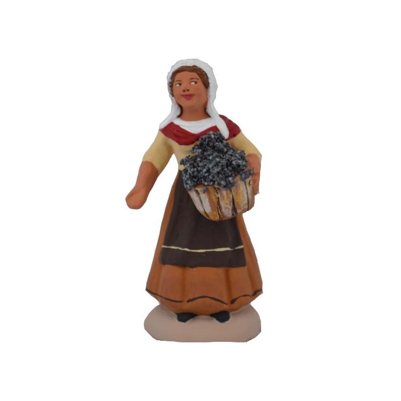 Vendangeur femme au panier n°2