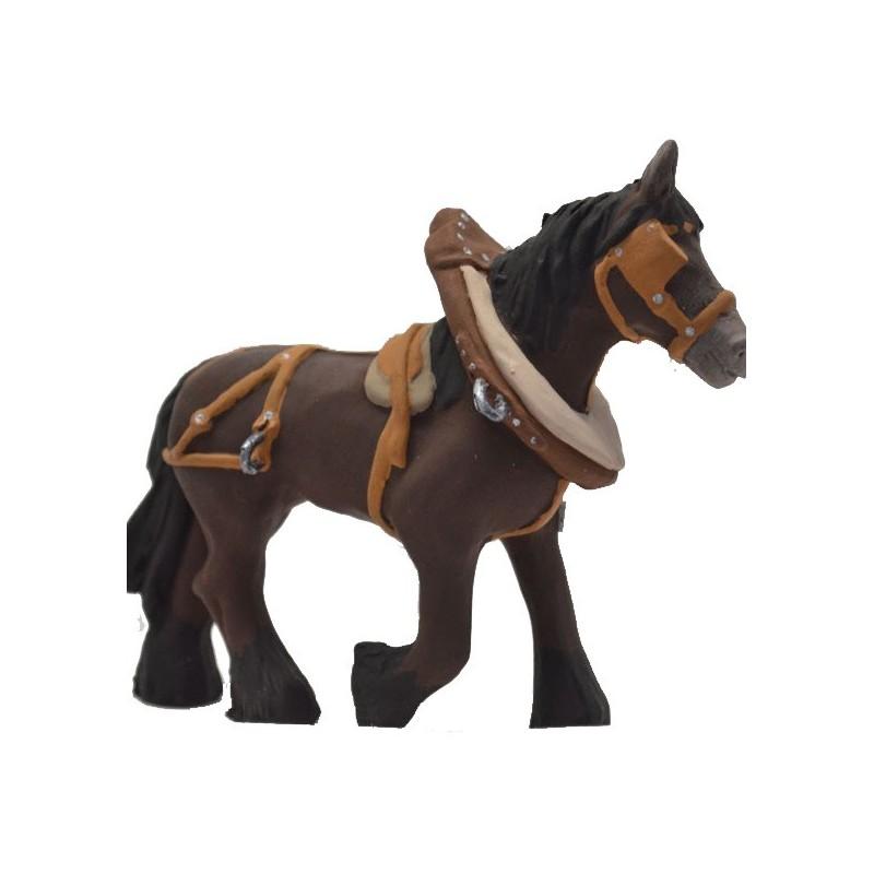 cheval de trait marron modèle N°1