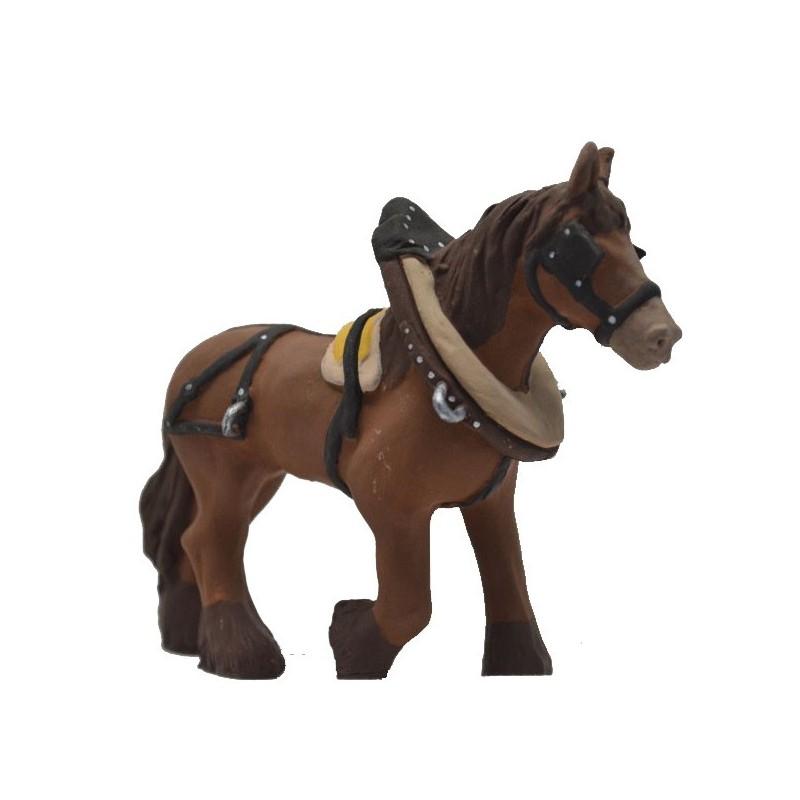cheval de trait marron modèle N°2