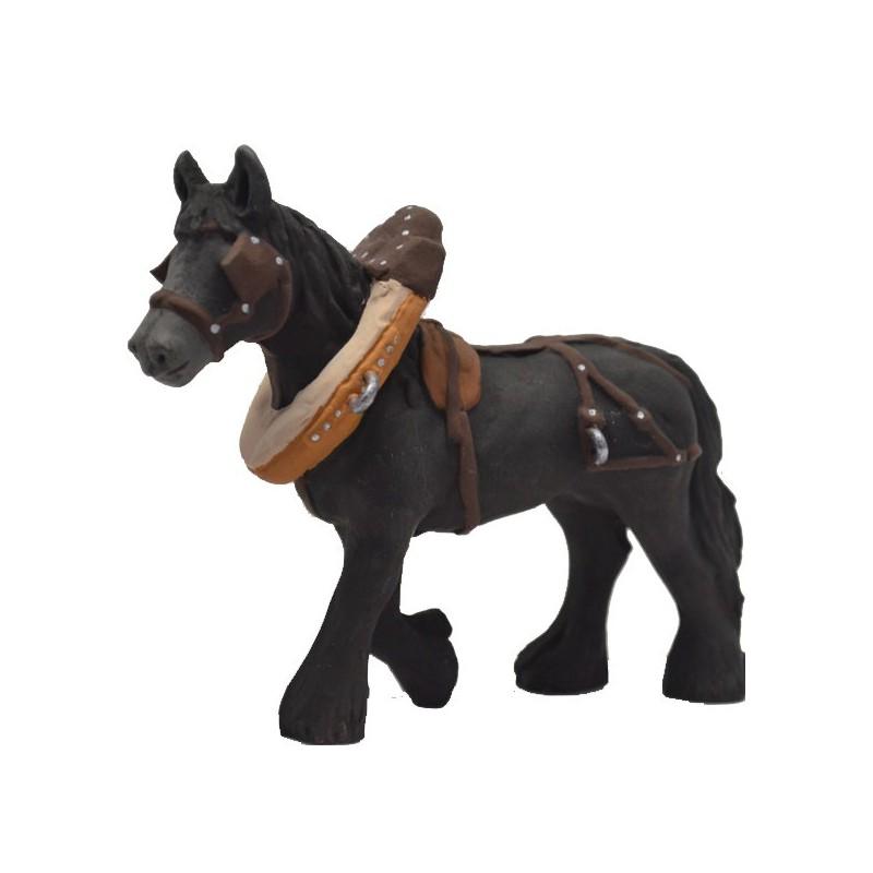 cheval de trait noir modèle N°4