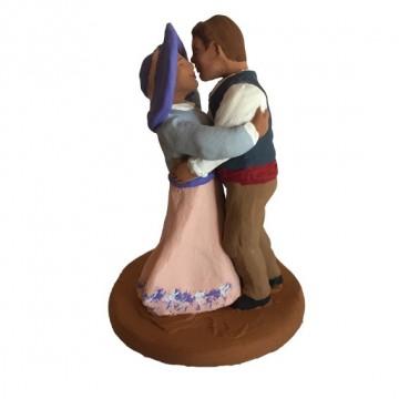 Couple de danseurs amoureux