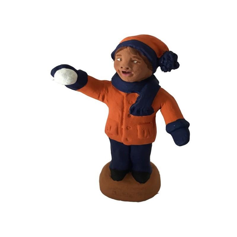 Le petit garçon et la petite boule de neige