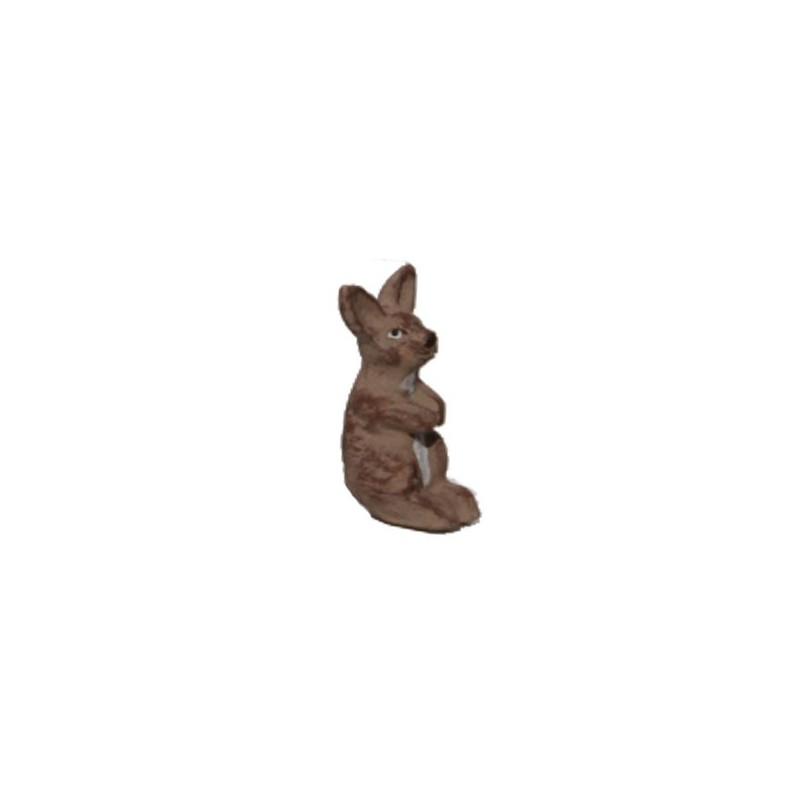 Le lapin dressé sur ses pattes arrières