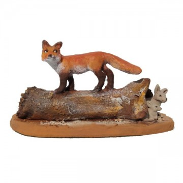 Le renard chassant les lapins