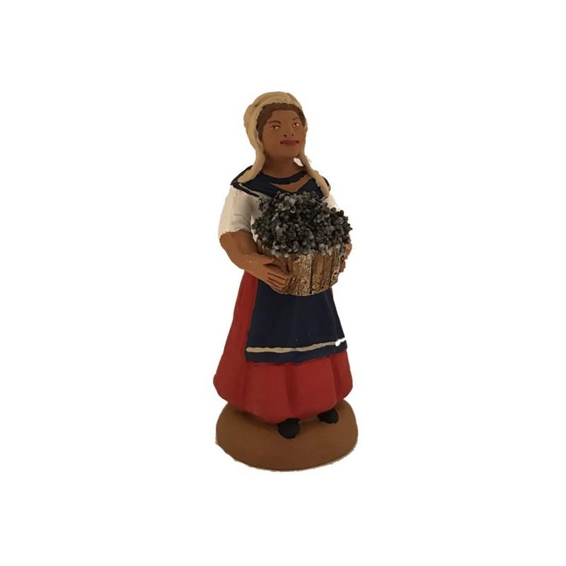 vendangeur femme au panier
